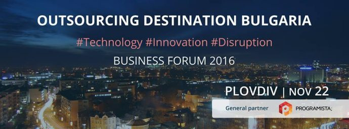 "Форум ""Outsourcing Destination Bulgaria 2016"""