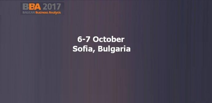 Balkan Business Analysis Conference 2017