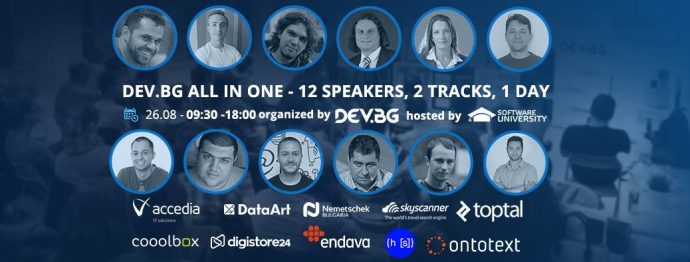 DEV.BG all in one – 12 speakers, 2 tracks, 1 day