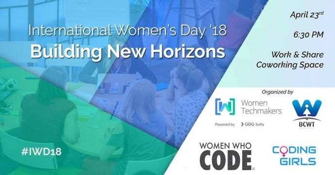 "Събитие ""International Women's Day '18: Building New Horizons"""