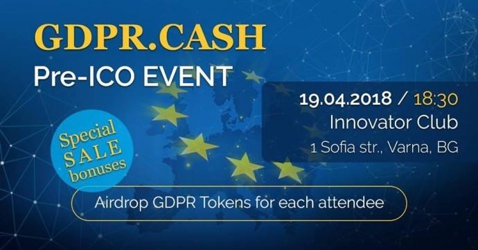 GDPR CASH Pre-ICO Event