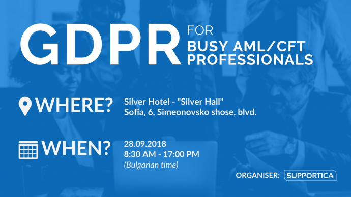 GDPR for Busy AML/CFT Professionals