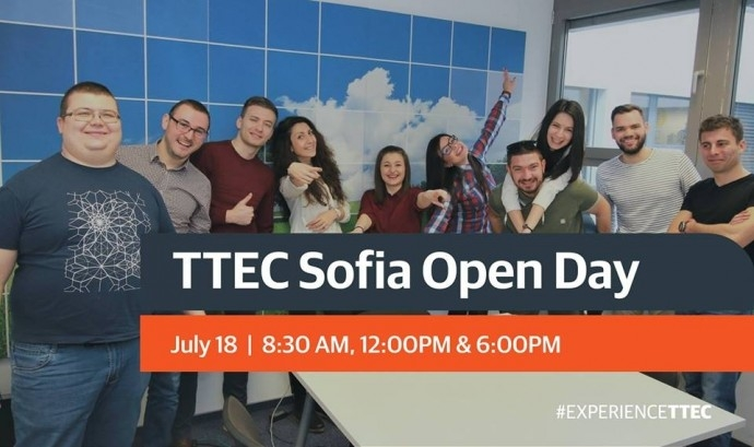 "Събитие ""Open Day at TTEC Sofia"""
