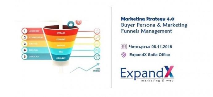 "Събитие ""Marketing Strategy 4.0: Buyer Persona & Marketing Funnels"""