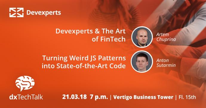 """Събитие """"dx TechTalk & The Art of FinTech"""""""