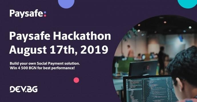 """Събитие """"Paysafe Hackathon 2019"""""""
