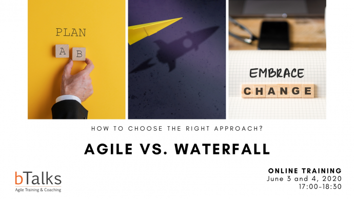 """Уебинар """"Agile vs. Waterfall – как да изберем подходящ подход за управление на проекти?"""""""