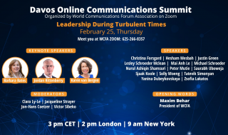 Davos Online Communications Summit on Zoom